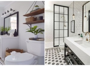 Beautiful and modern farmhouse bathroom design ideas