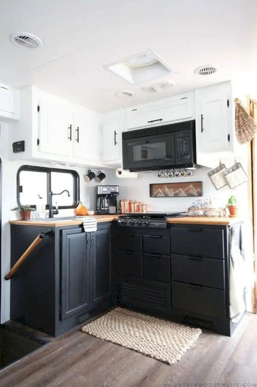 Best rv camper kitchen decorating ideas