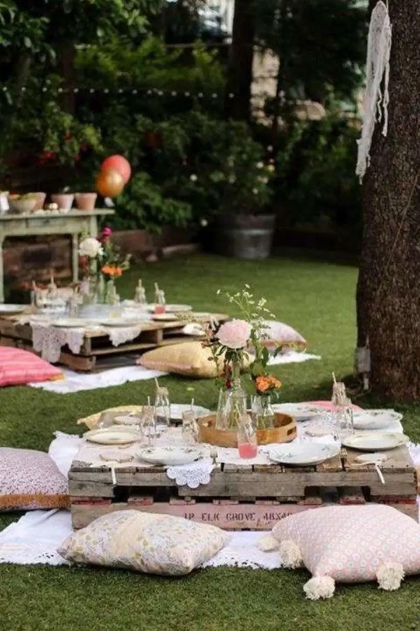Boho garden party birthday party ideas