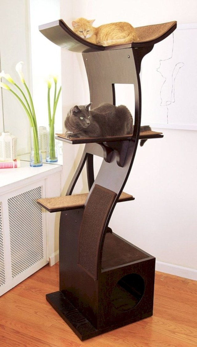 Cat trees without carpet