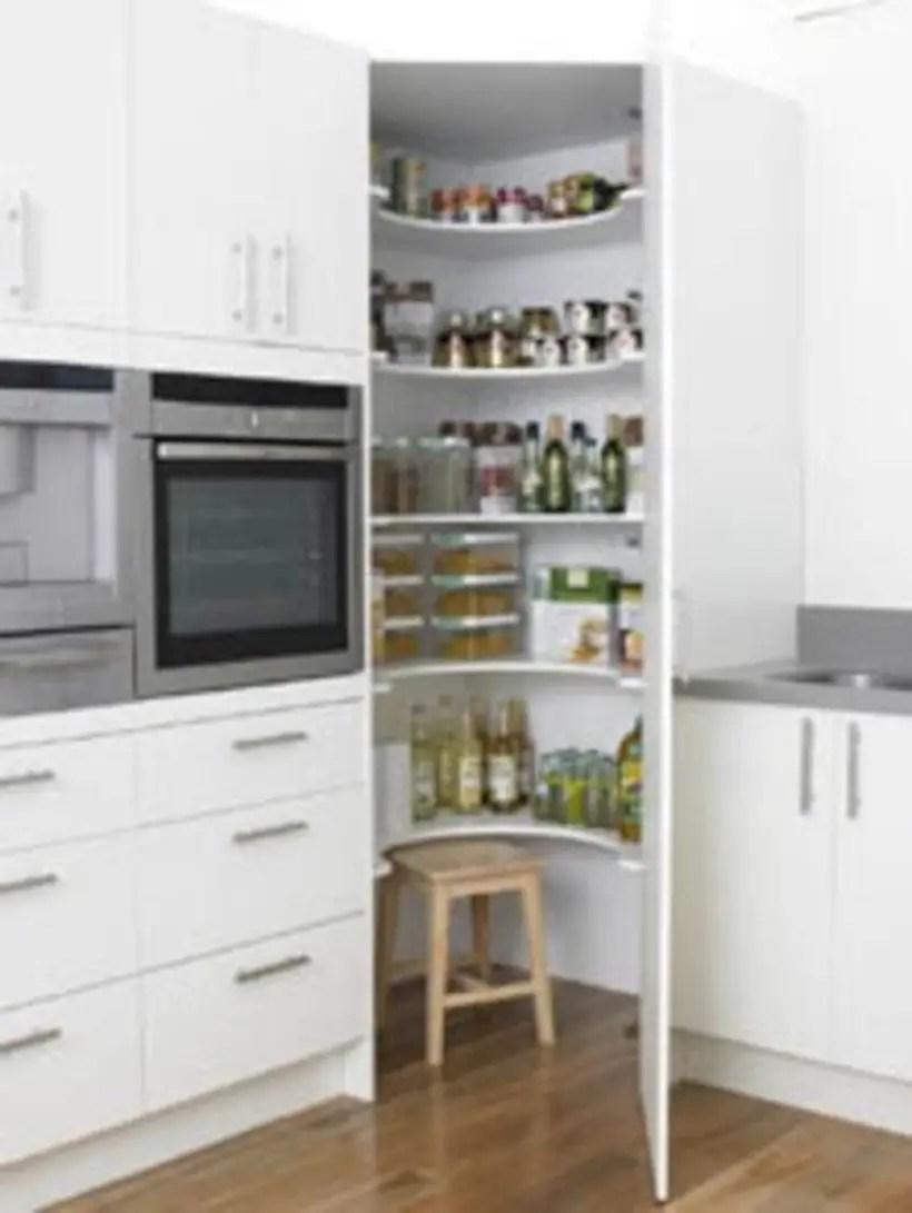 Corner cupboard floor to ceiling