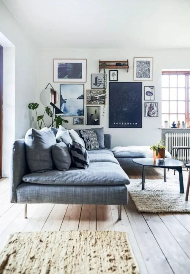 Cozy scandinavian villa full of retro design