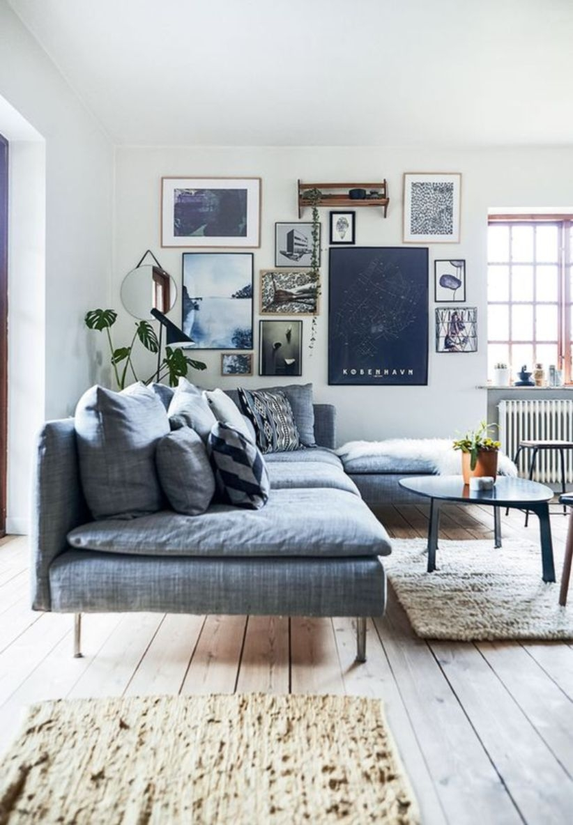 Cozy scandinavian villa full of retro design
