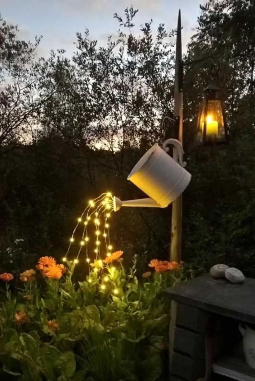 Diy backyard lighting for summer nights in garden