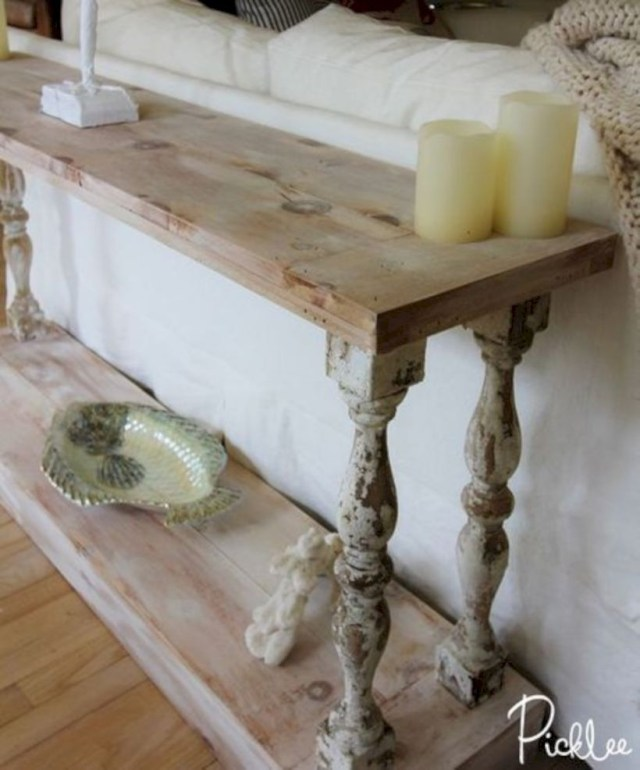 Diy french country sofa table