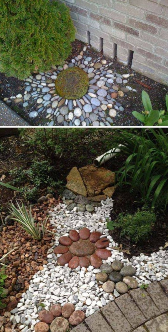 Diy ideas to create a decorative downspout landscape for garden