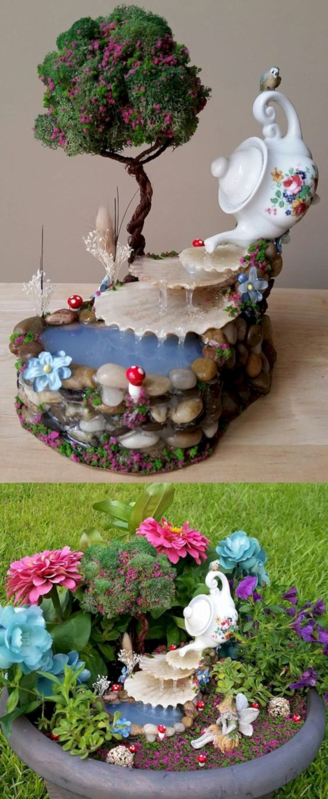 Fairy garden waterfall