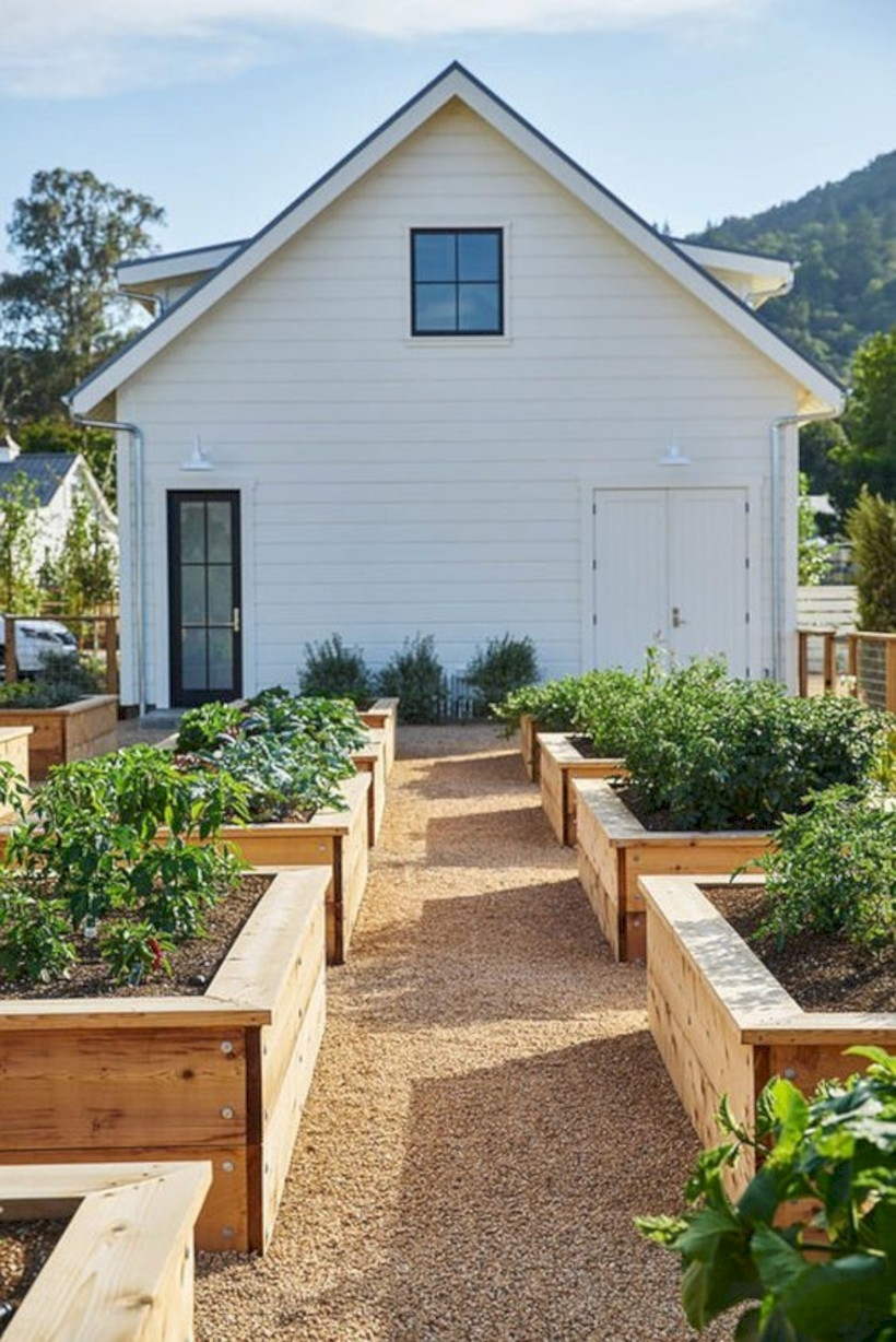 Farmhouse vegetable garden
