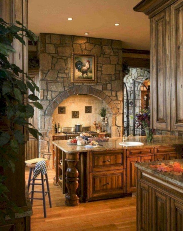French country gothic kitchen