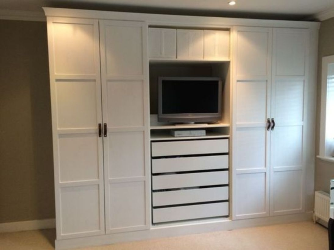 Ikea pax wardrobes hacked to look built in
