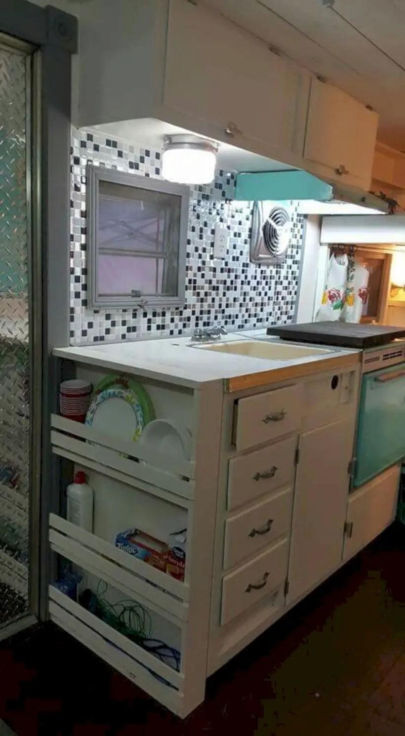 Kitchen cabinets in rv