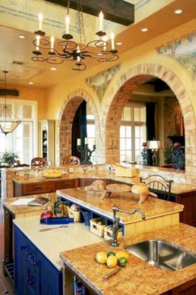 Kitchen design in mediteranean style