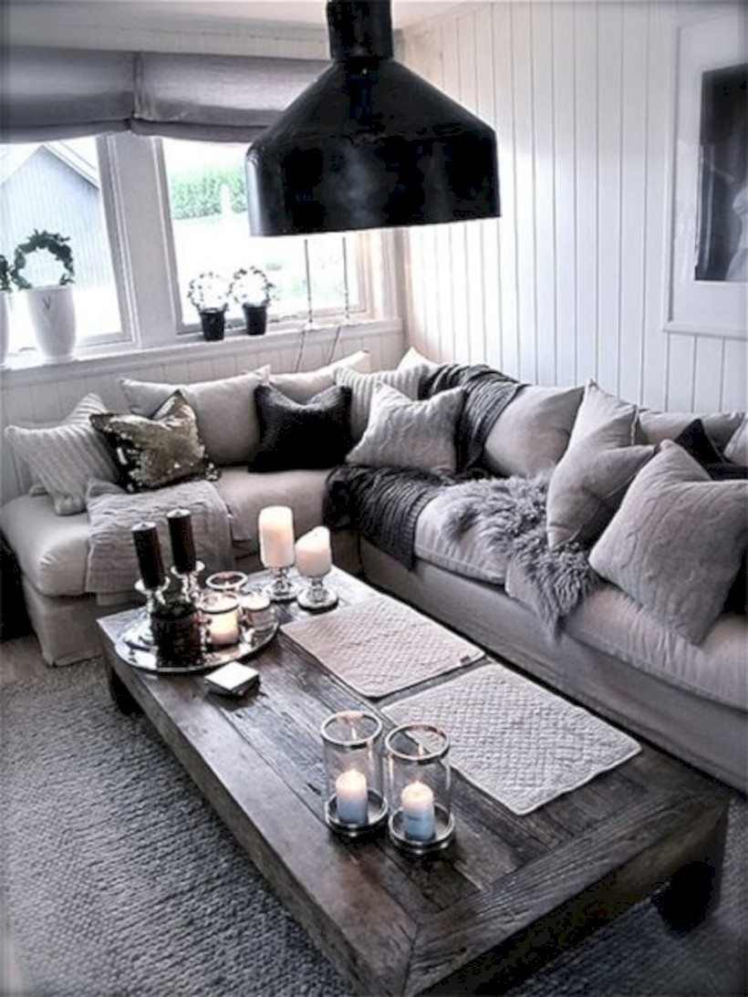 Living room inspirations with a pile of pillows