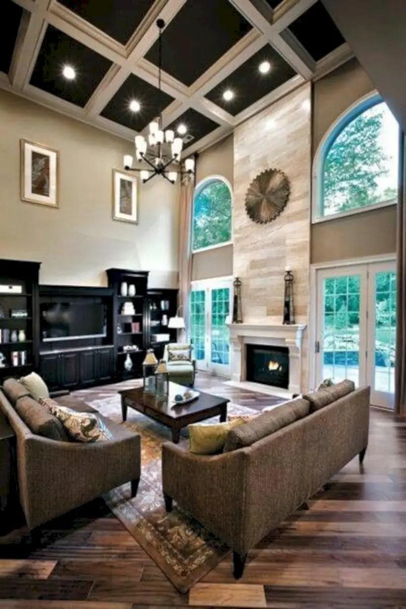Living room with window door combo