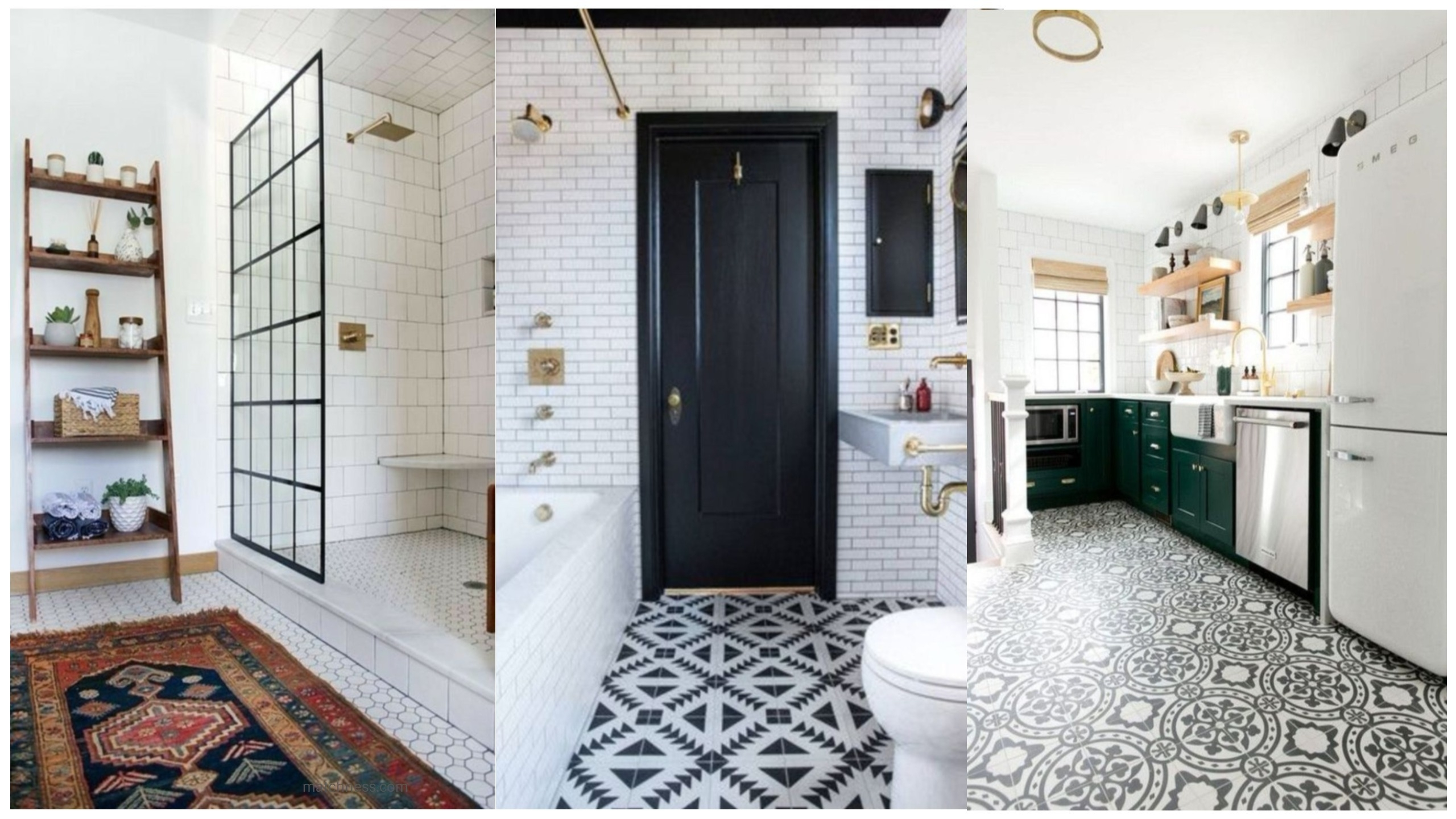 16 lovely tile floor for your bathroom and kitchen matchness dailygadgetfo Images