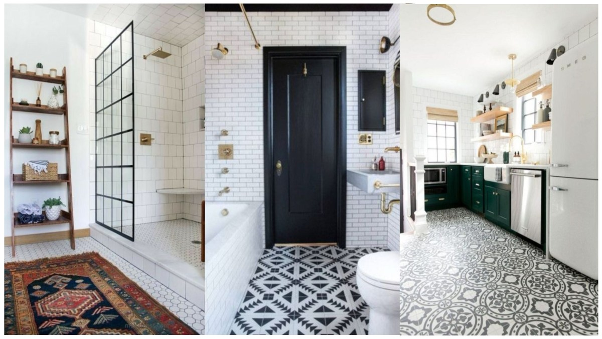 16 Lovely Tile Floor for Your Bathroom and Kitchen
