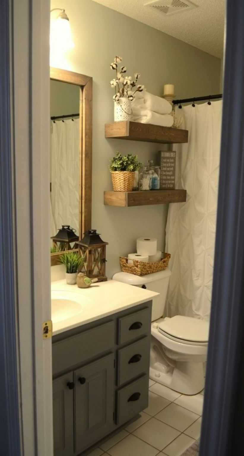 Modern farmhouse bathroom remodel ideas with small space