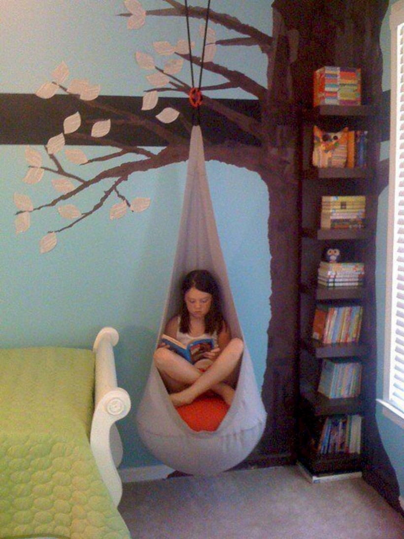 Neat reading nook
