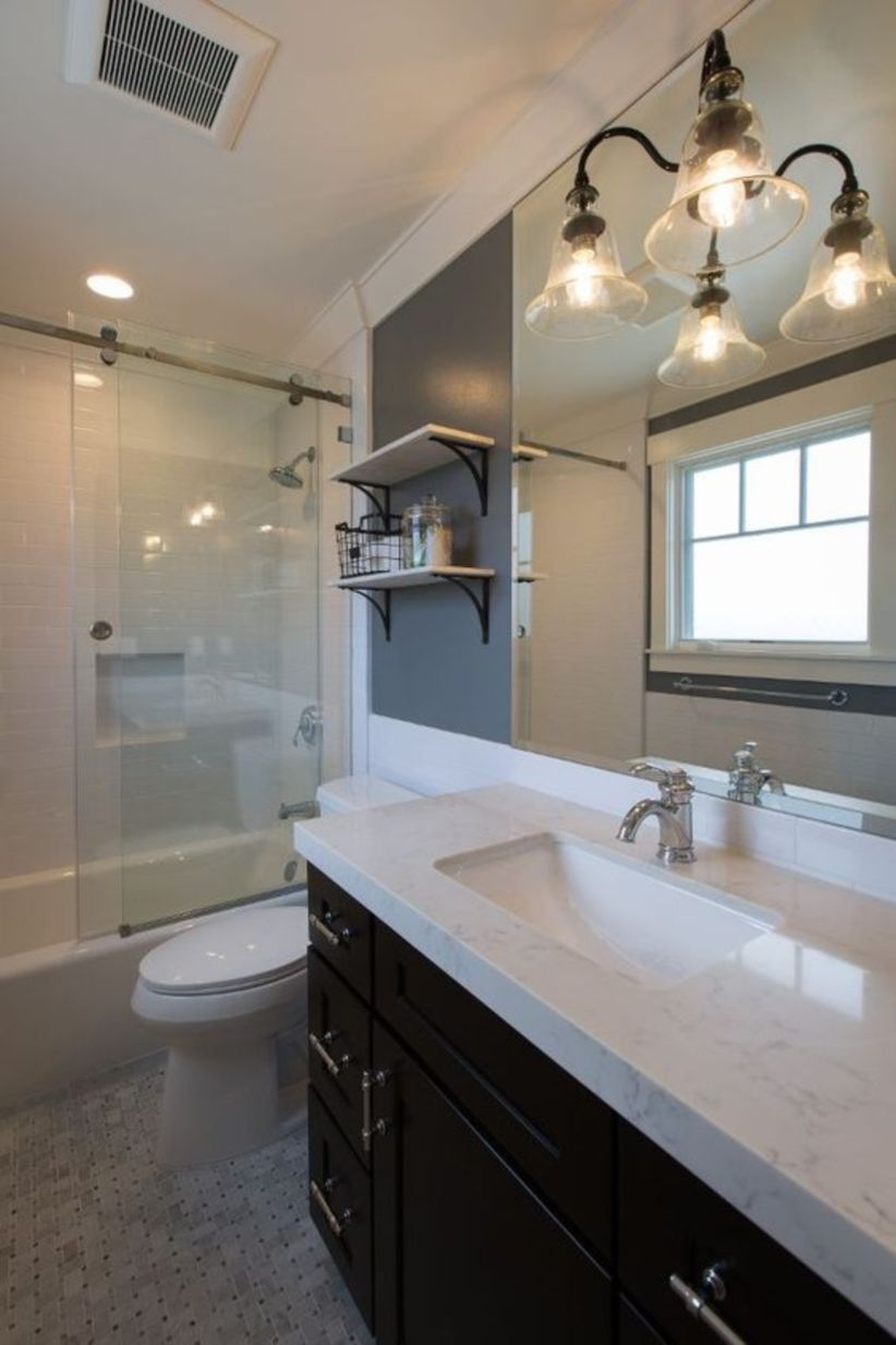 New construction modern farmhouse design ideas for bathroom