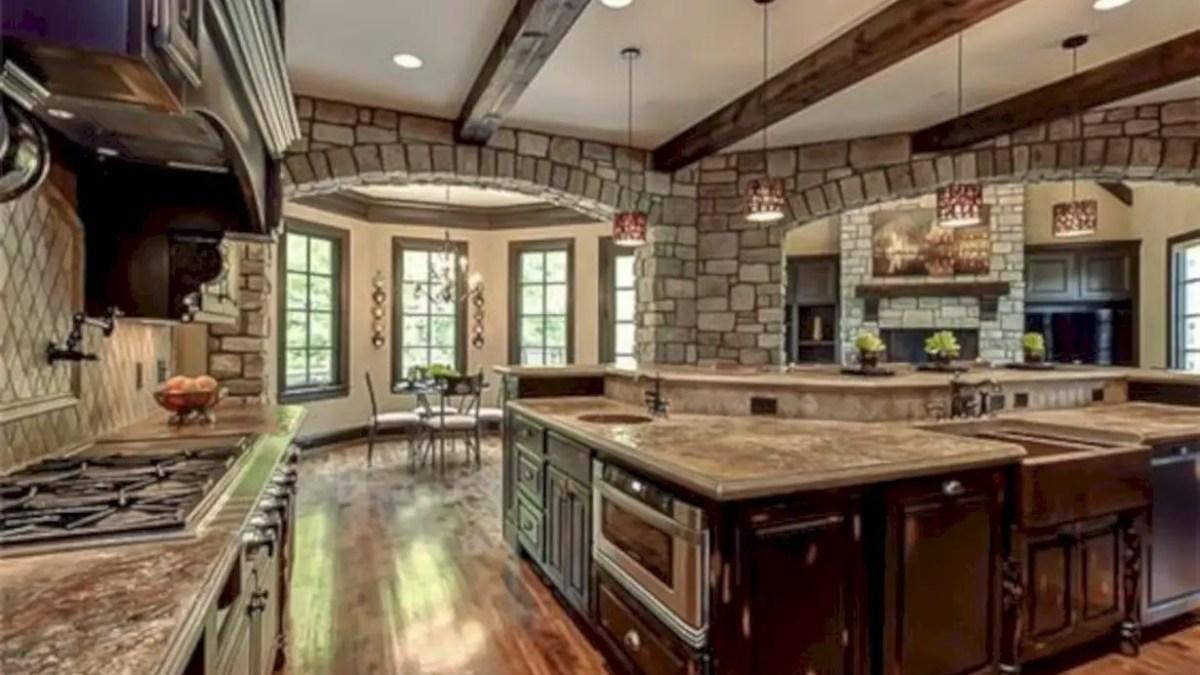 17 Stunning Kitchen with Beautiful Stone