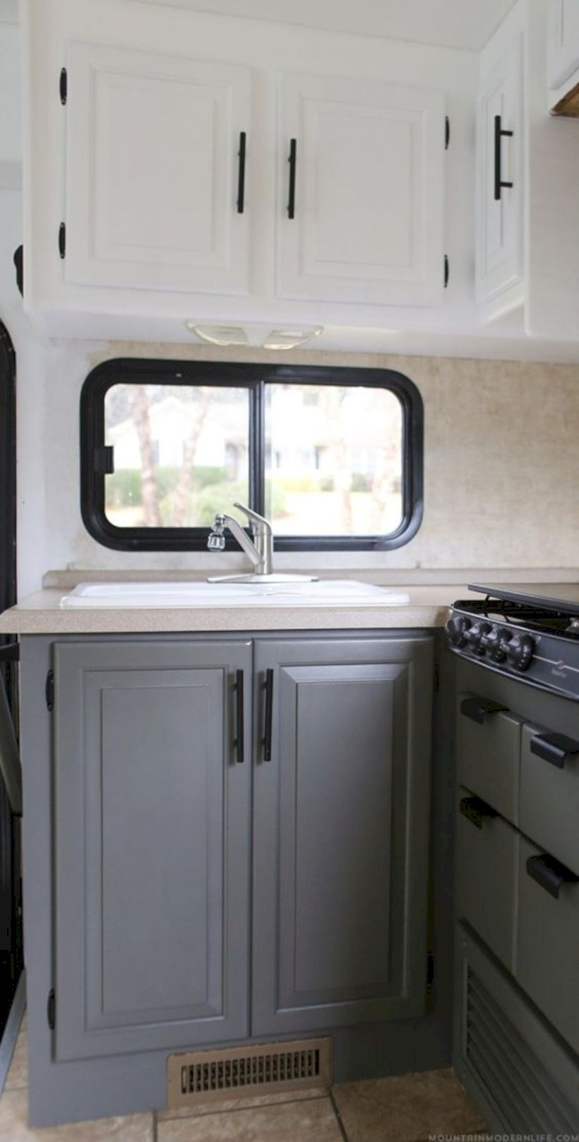 Rv kitchen cabinets in travel trailers