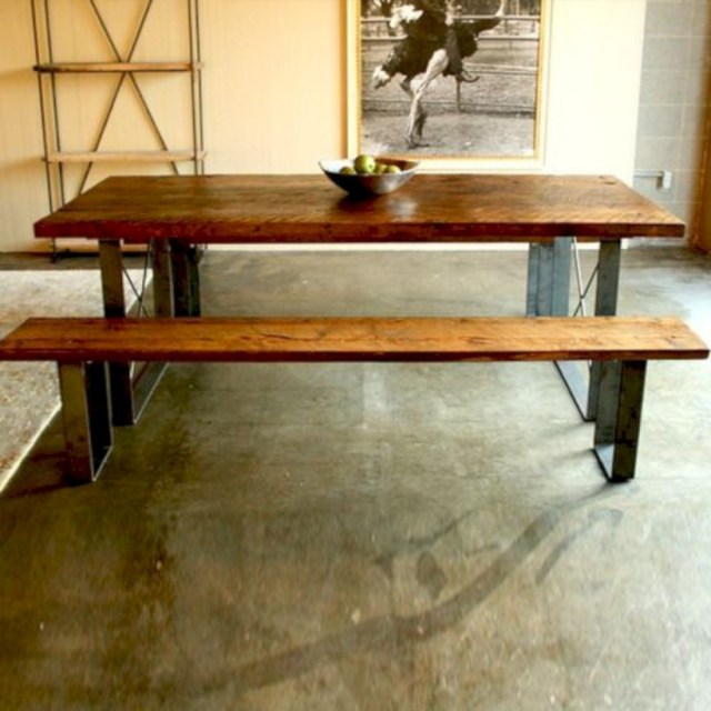 Railcar dining table