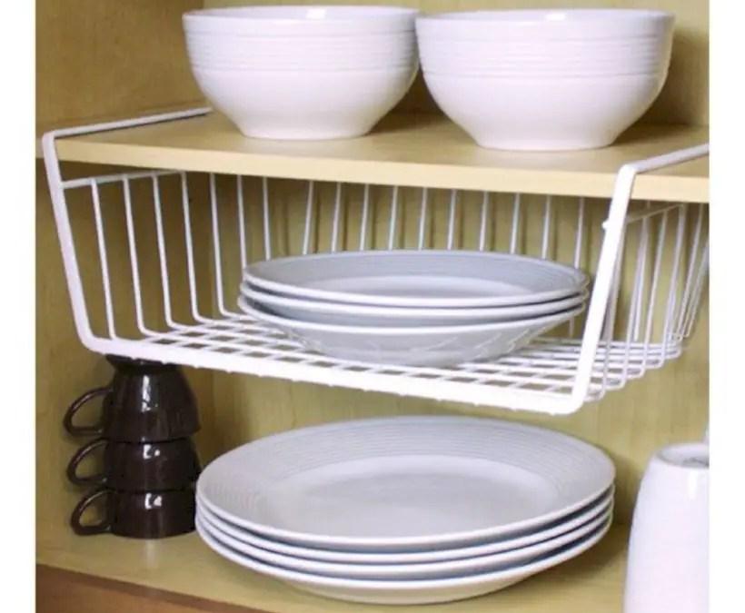 Shelf storage basket