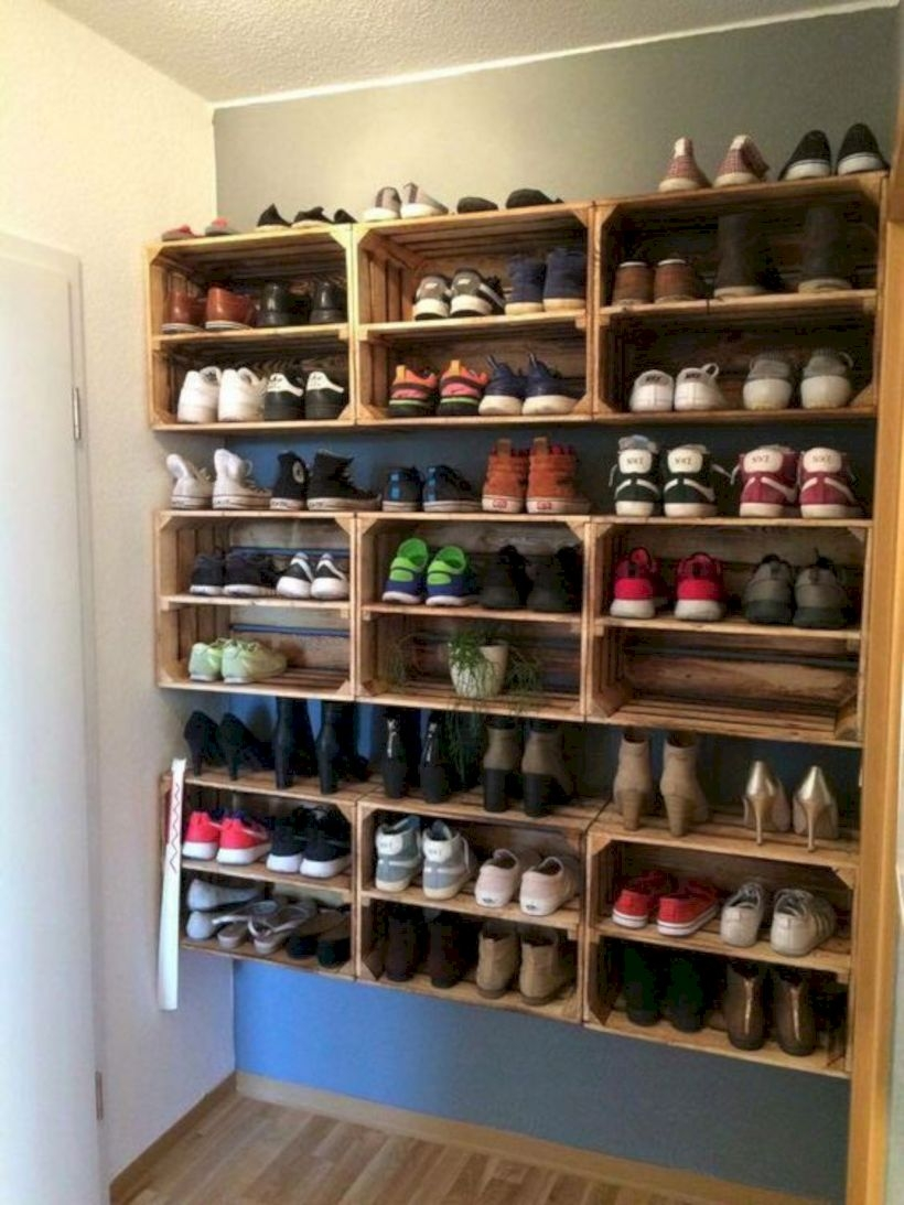 Storage shoe rack crates