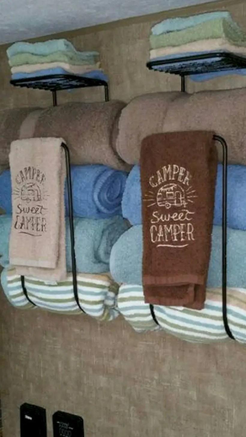Towel racks camper