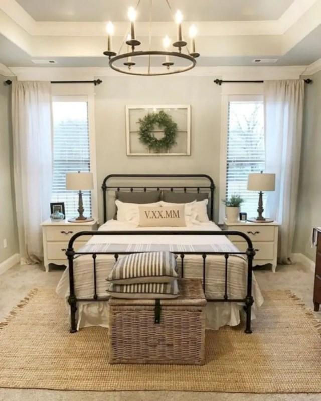 Urban farmhouse master bedroom