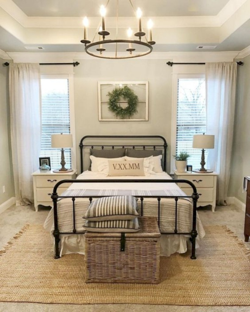 Urban farmhouse master bedroom