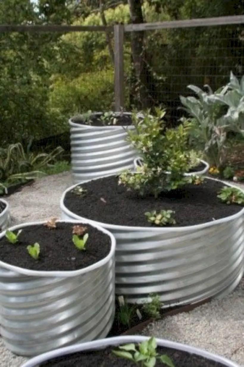 Vegetables in metal culverts
