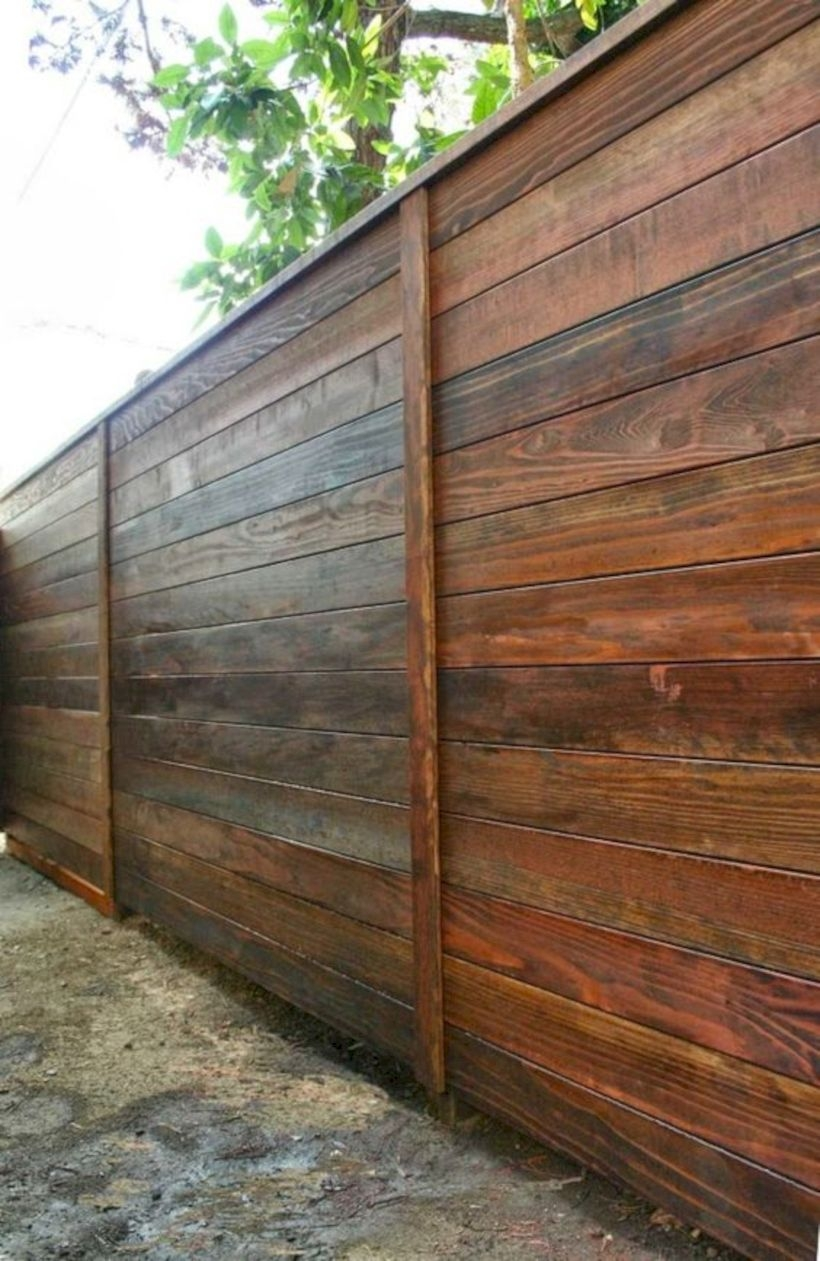 A modern style horizontal fence