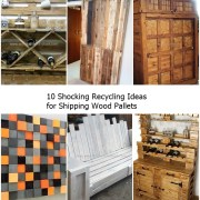 10 shocking recycling ideas for shipping wood pallets