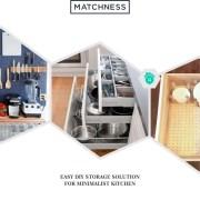 15. diy storage minimalist kitchen
