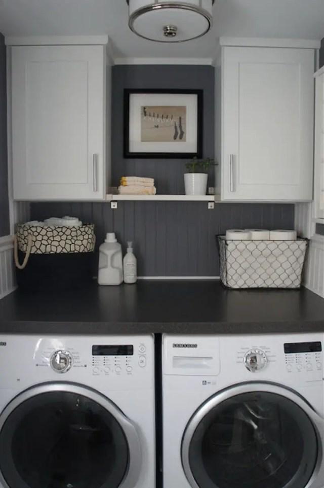neutral chromo in laundry room - Laundry Room Design Ideas