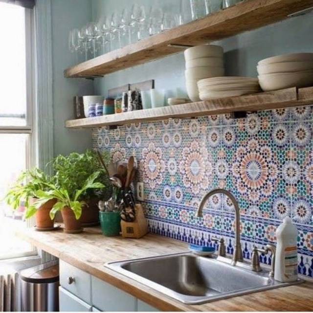 9. mosaic wall and plants