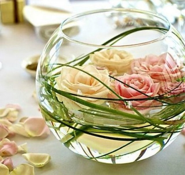 9. white roses in jar