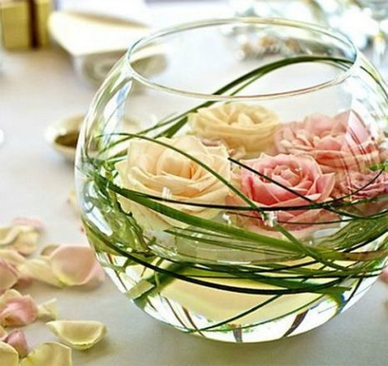 9. white roses in jar