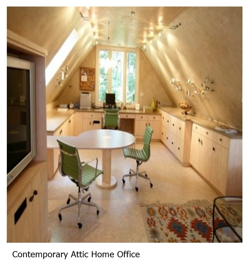 Contemporary attic home office