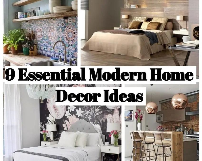 9 Essential Modern Home Decor Ideas to Inspire You