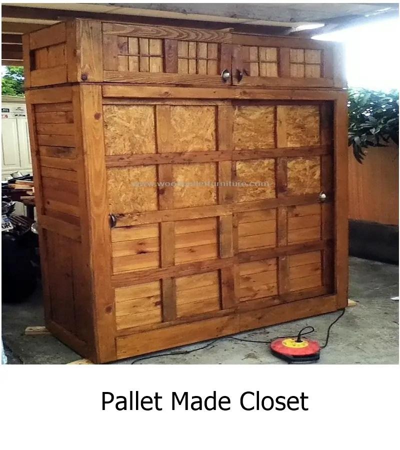 Pallet made closet 1