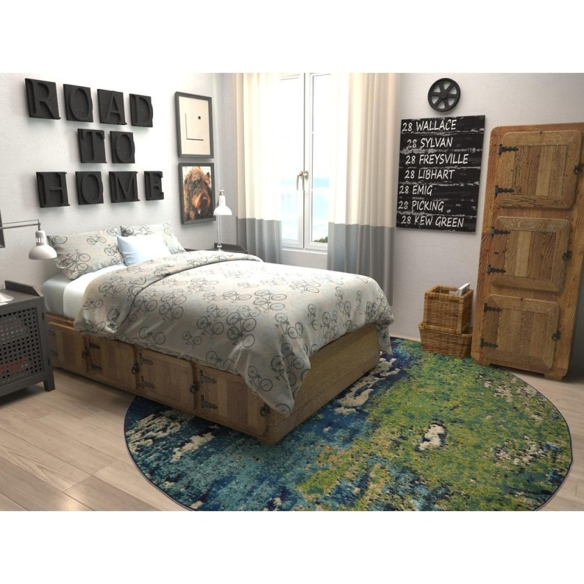 Rooms that will inspire you to try with a round rugs 7