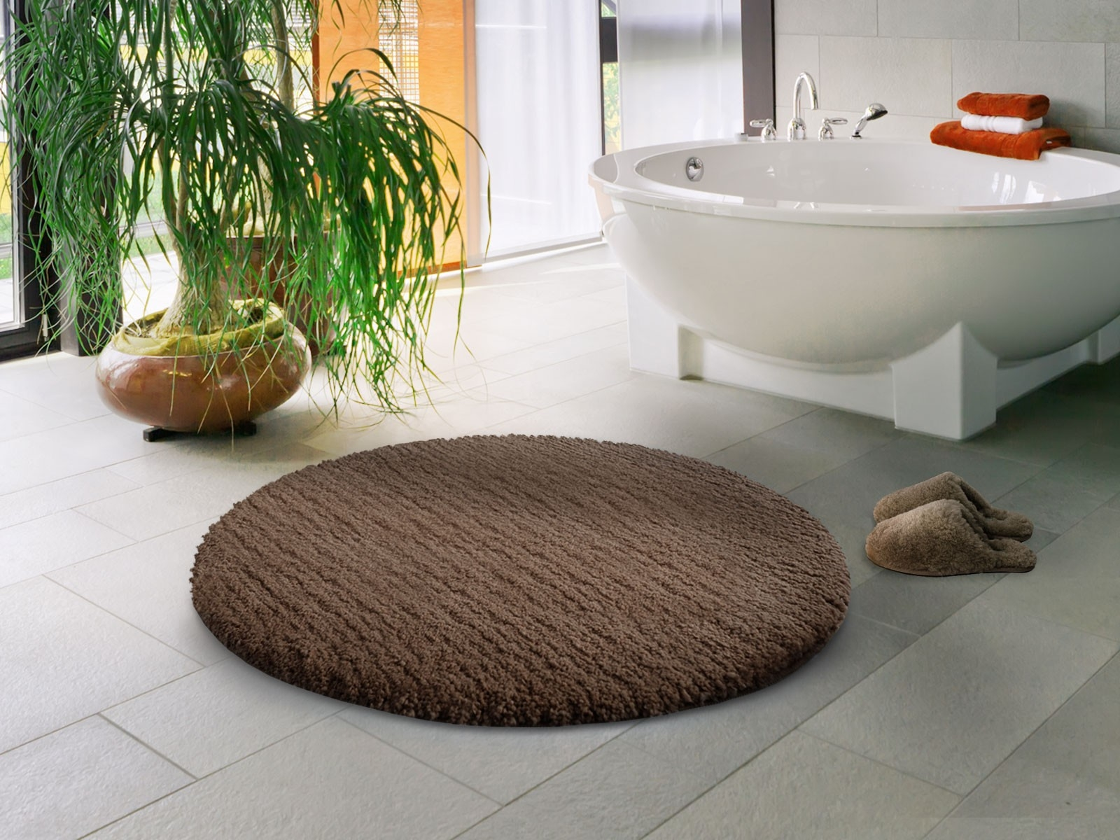 Rooms that will inspire you to try with a round rugs 9