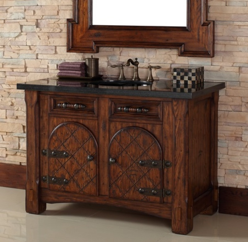 Rustic bathroom vanities 11