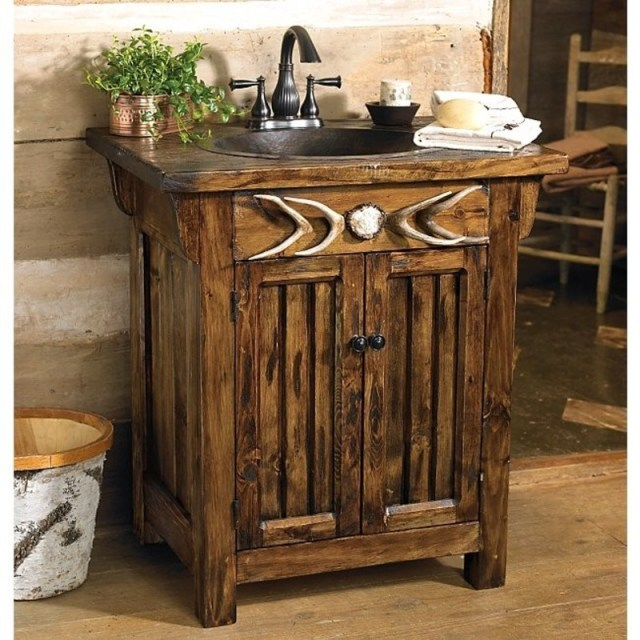 Rustic bathroom vanities 2