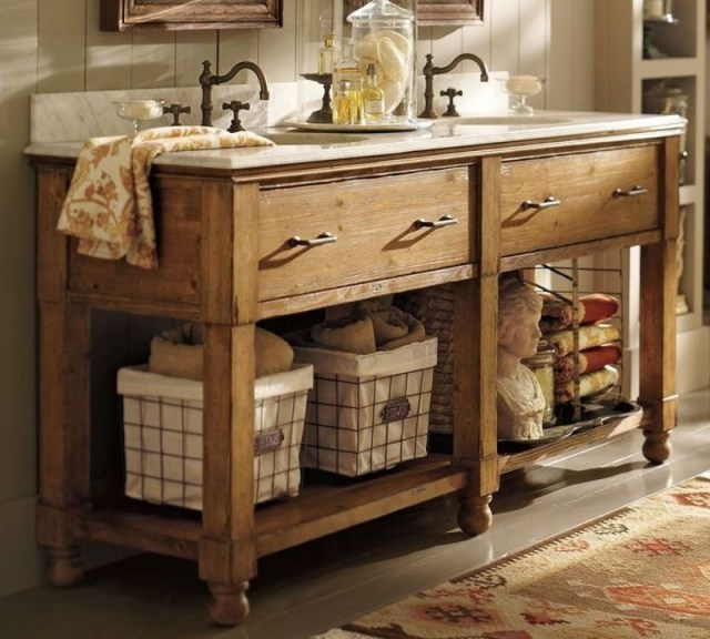 Rustic bathroom vanities 7
