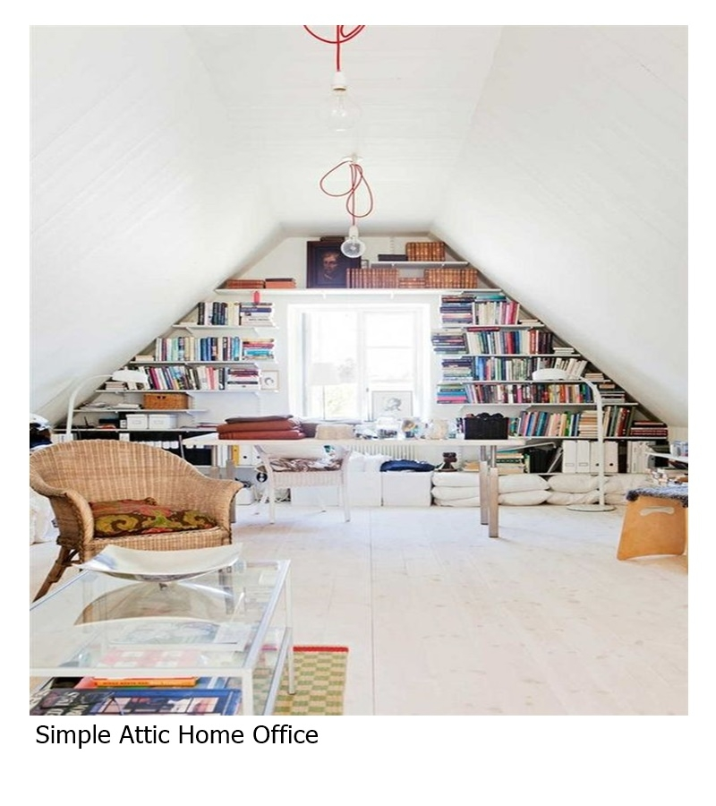 Simple attic home office
