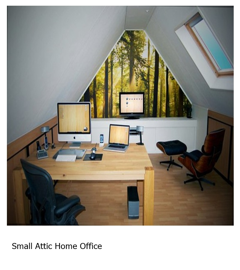 Small attic home office