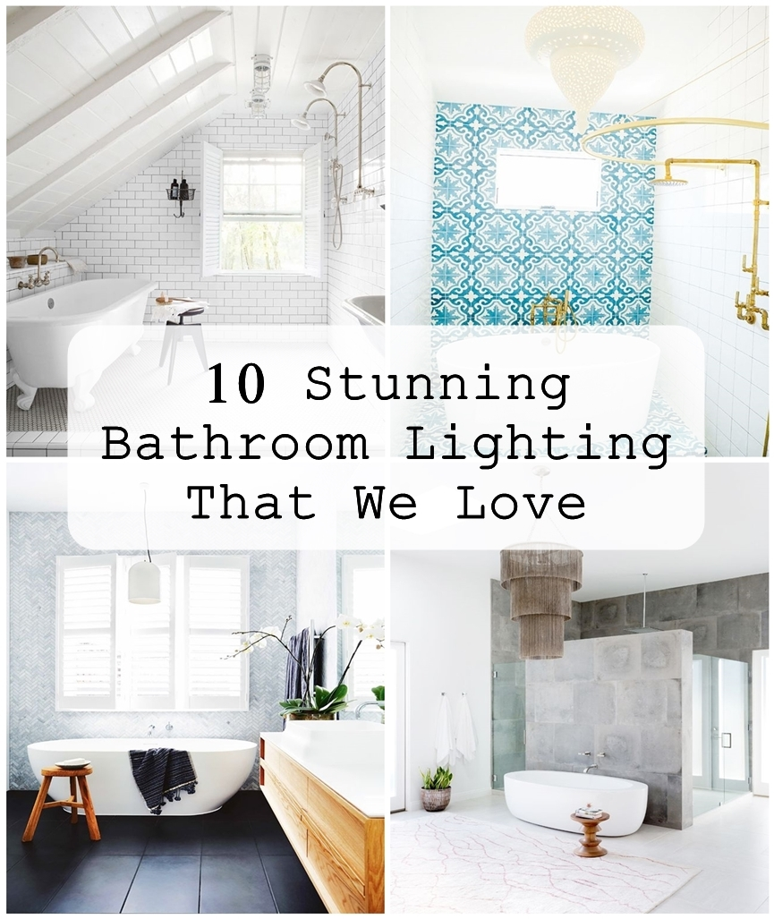 10 Stunning Bathroom Lighting That We Love Matchness Com